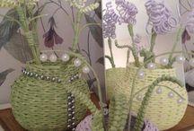 цветы плетение