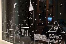 okna vánoční