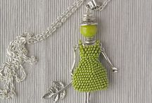 Beaded French doll pendant