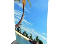 Desktop displays / Bespoke printed desktop display stands, banners and showcards. Printed with your design in the UK.