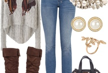 Lovely winter style / Love this look, but would change to heeled boots, and darker jeans.