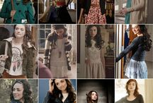 Crystal Reed / Make up, hairstyles,dress