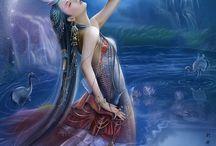 Adas, Sirenas y Guerreras / imágenes de adas, guerreras, sirenas, elfos