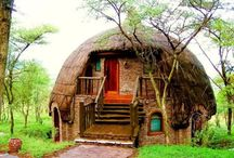 Houses that are different and unusual / houses, huts, various abodes