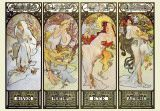 Alphonse Mucha / This is a retrospective of my favorite art noveau artist, the Czech painter, who died of pneumonia contracted after being interrogated by the Nazis in 1939.