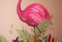 Applikationen Flamingo  Afrika