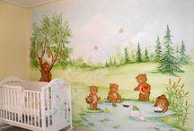 Διακόσμηση παιδικού δωματίου / Βάψιμο, συνδυασμοί χρωμάτων, έπιπλα, ζωγραφική παιδικού δωματίου, διακόσμηση.