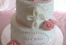 Christianing cakes / Baby girl cake idea for Christianing