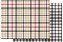 B-Side Scrapper Mad 4 Plaid Tailored / Mad 4 Plaid Tailored scrapbook paper and stickers