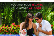Valentine's Day Special / YOU AND YOUR BELOVED AT A LUXURY GETAWAY Call us to reserve 1 888 320 7590