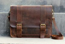 Leather bags men.