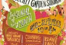 RHS Secret Garden Sundays / If you were in Vincent Square London on the first Sunday of each Summer month in 2014, you may have spotted the Herb Society stall, along with many other stalls and workshops.