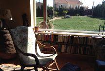 El mejor lugar / Casa rural, sala de lectura, paisaje
