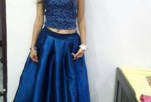shiny beautiful skirt and lehanga