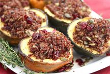 Winter Vegetarian Meals / Vegetarian meals featuring apples, broccoli, Brussels sprouts, cranberries, mushrooms, pears, potatoes, acorn squash, butternut squash, spaghetti squash, pumpkins / by Lauren B.