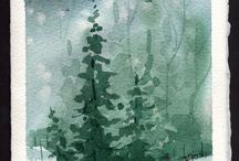 Akvarellimetsä
