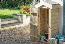 Timber storage structures for gardens