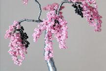 Beaded bonsai trees