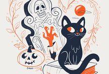Halloween ilustrations inspo