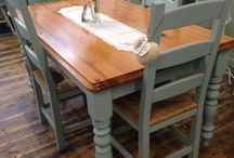 Dining room decor | painted furniture