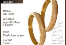 Alianzas de Casamiento en Oro / Alianzas de boda en oro 18 kilates, modelos clásicos, combinados en dos o tres colores y con brillantes. Elegí entre todos ellos los anillos que luego de dar el sí, los acompañarán para siempre...