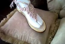 sandalias a mano