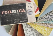 My Vintage Formica Obsession / I've had an obsession with vintage formica patterns for nearly ten years now. I love the bold colours, patterns and durability of it. It never seems to date and is a brilliant surface to work on.