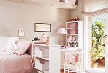 Decoración de casa en rosa pastel niña