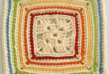 Crochet - Granny Squares & Other Motifs / Hexagon, Round, Square & Triangle / by Nancy Jones