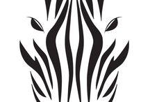 Applikationen Taschen Zebra