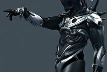 Cyberpunks & Sci -Fi Supertroopers / Inspirational Sci Fi & Cyber art of figure & form.