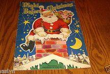 NIGHT BEFORE CHRISTMAS VINTAGE GIANT BOOK-1947 WHITMAN PUBLISHING-SO ADORABLE-