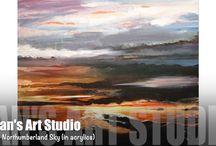 Jan's Art Studio YouTube Videos / Some f the video of me creating my art