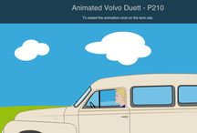 Volvo Duett / A collection of drawings and photo of the legendary Volvo Duett PV445 / P210