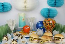 Finding Dory & Finding Nemo Party Decoration Idea / Finding Dory Inspired Birthday Decorations!