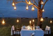 Дерево с фонариками