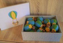 Caixa Maternidade menino Balão / caixa maternidade lembrancinha!