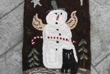 Winter/Christmas Hooked Rugs