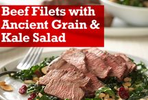 Mediterranean Diet-Inspired Recipes / Incorporating lean red meat into a Mediterranean-style eating pattern can help support heart health. These delicious Mediterranean Diet inspired recipes include plenty of lean meat, fruits, vegetables, whole grains, nuts and seeds.