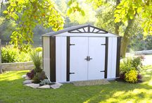 Arrow® Designer™ Series 10' x 8' Storage Shed / The Arrow Shed Designer Series Steel Storage Shed 10' x 8' is an excellent size for your storage needs.   Swing doors and tall walls makes this a perfect steel storage shed for any application