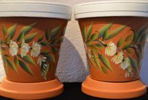 Flowerpots / Handpainted Flowerpots