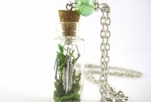 Glass bottle jewellery Jewellery