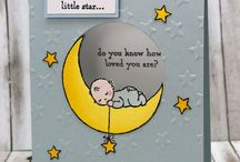 Stampin' Up! Moon Baby cards / Cards for babies