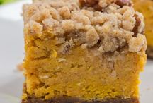 Pumpkin crumble bars