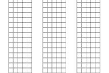 Templates / Use these templates to scratch out your ideas. Always write them down. The best ideas happen out of the blue so be ready for them, and don't think you'll remember later because you know you won't.  Write out the tab, standard notation, chord shapes, scale shapes etc....