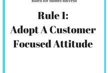 Sales & Marketing Funnel Mindset For Success / Rules and mantras for a successful sales and marketing funnel foundation.