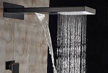 "GOWE Modern 22"" Oil Rubbed Bronze Waterfall Rain Shower Head Single Handle Mixer Tap"