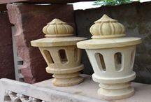 Stone Lamp Posts