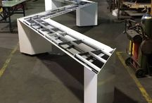 Conference Tables / Unique conference tables, using metal fabrication, for the one of a kind board room!