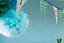 Pompones y guirnaldas / Pompones y guirnaldas para decorar habitaciones y también fiestas de cumple años.